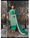 Sea Green Lawn Cotton Salwar Kameez