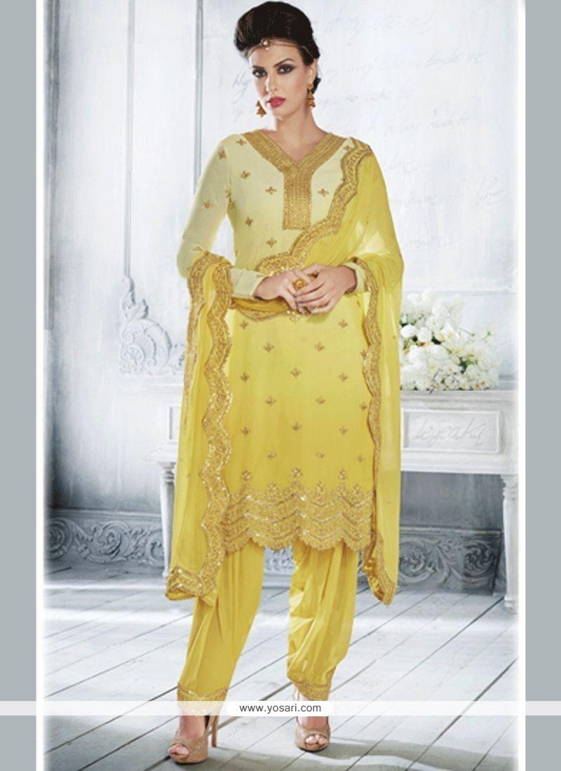 2dc58d1c15 Buy Resham Work Faux Georgette Designer Suit | Anarkali Suits