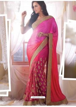 Neha Dhupia Pink Designer Saree