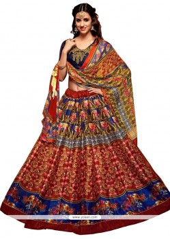 Banglori Silk Multi Colour Embroidered Work Lehenga Choli