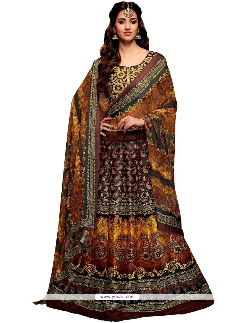 702651c325 Buy Embroidered Banglori Silk Lehenga Choli In Multi Colour ...