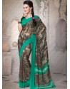 Black Georgette Designer Saree