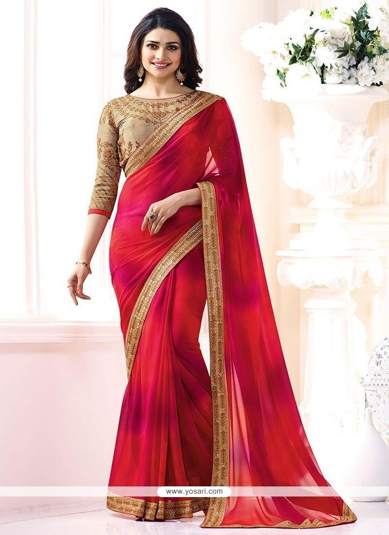338403b6c72 Buy Prachi Desai Faux Georgette Shaded Saree