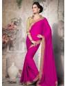 Magenta Georgette Designer Saree