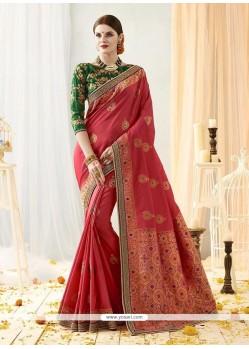 Art Silk Thread Work Traditional Designer Saree