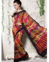 Multi Colour Georgette Print Work Saree