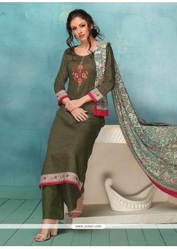 Green Embroidered Work Designer Palazzo Suit