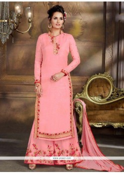 Embroidered Work Net Designer Palazzo Suit