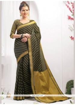 Chanderi Cotton Lace Work Classic Saree