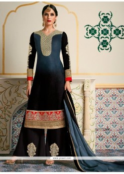 Fancy Fabric Designer Palazzo Suit
