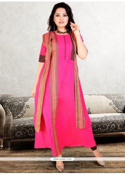 Print Work Party Wear Kurti