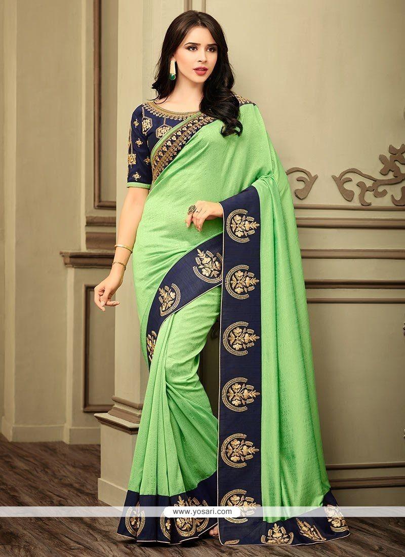 Buy Art Silk Patch Border Work Designer Traditional Saree | Designer ...