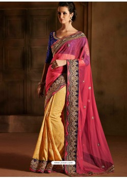 Multicolor Bemberg Saree