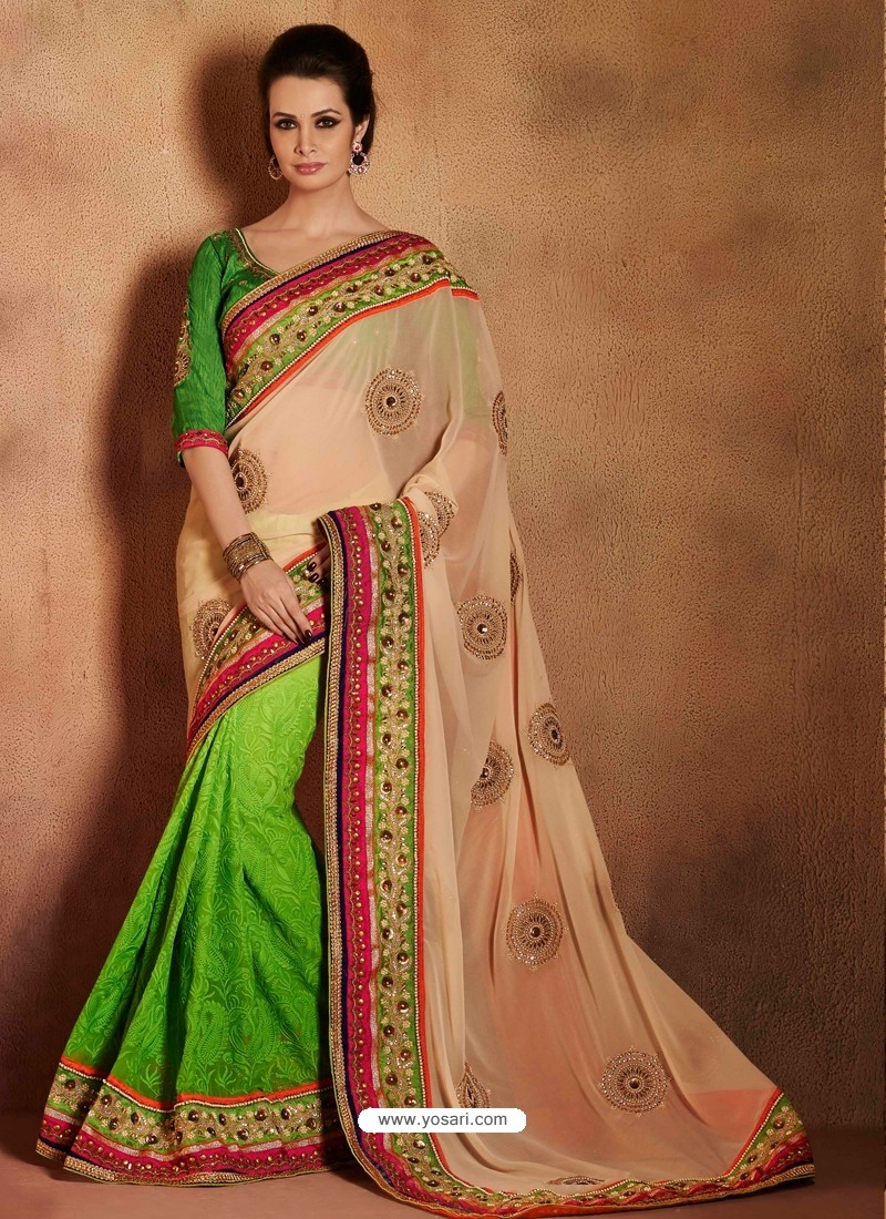 Green Bemberg Saree