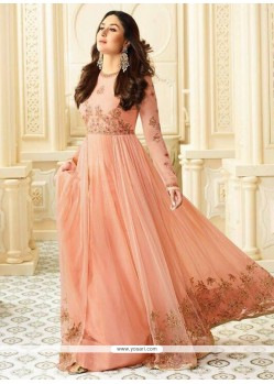 Kareena Kapoor Peach Faux Georgette Floor Length Anarkali Suit