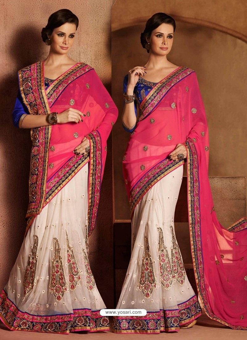 Multicolor Georgette Saree
