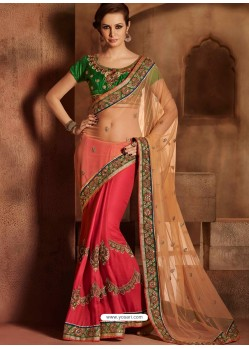 Multicolor Satin Designer Saree