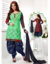 Ayesha Takia Navy Blue Cotton Punjabi Patiala Suit