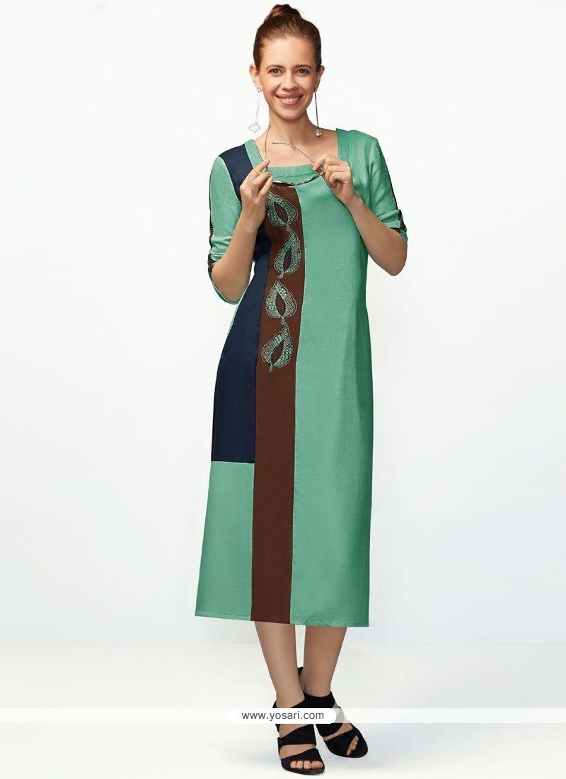 398c561f6 Buy Print Work Fancy Fabric Party Wear Kurti