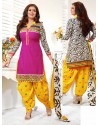Ayesha Takia Multicolor Cotton Punjabi Patiala Suit