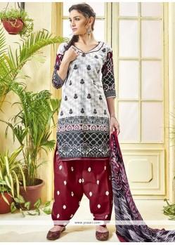 Print Work Cotton Punjabi Suit