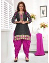 Ayesha Takia Magenta and Black Cotton Punjabi Patiala Suit