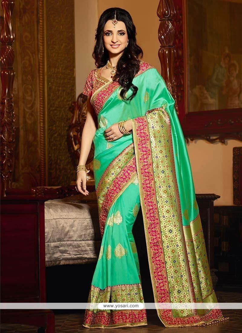 5b849de222b71 Buy Sanaya Irani Green Designer Traditional Saree
