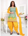 Ayesha Takia Mustard Cotton Punjabi Patiala Suit