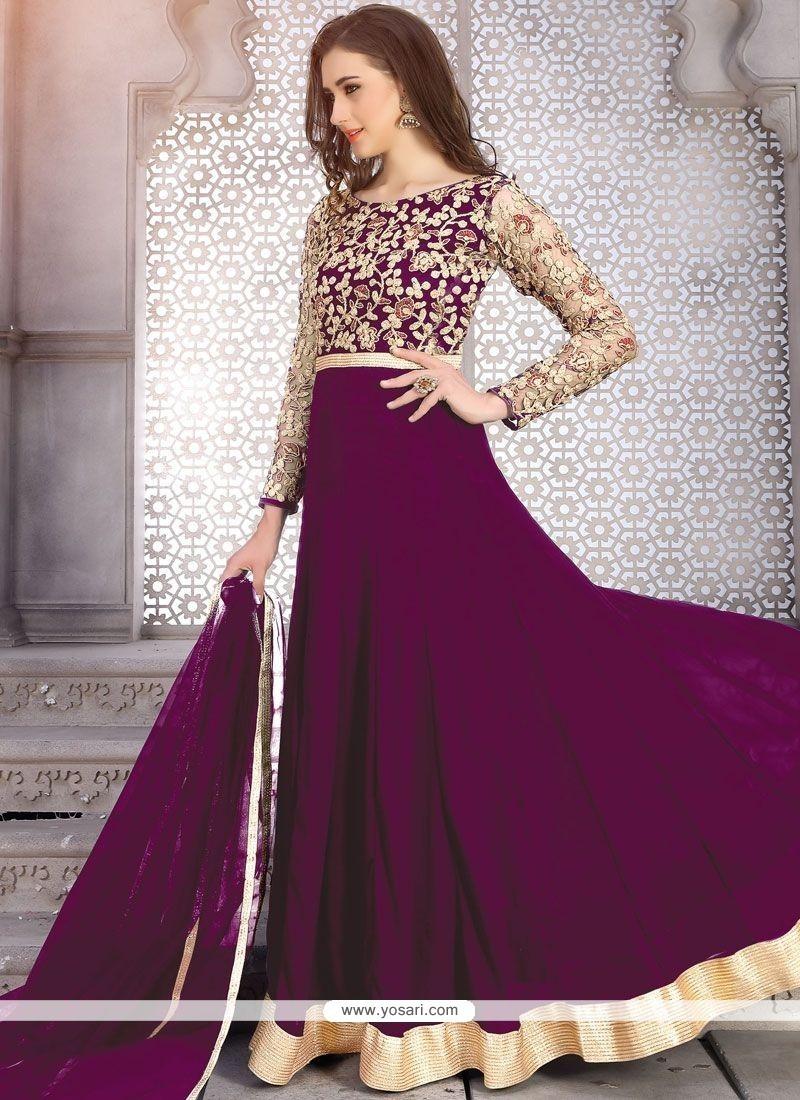 Único Anarkali Suit For Wedding Cresta - Vestido de Novia Para Las ...