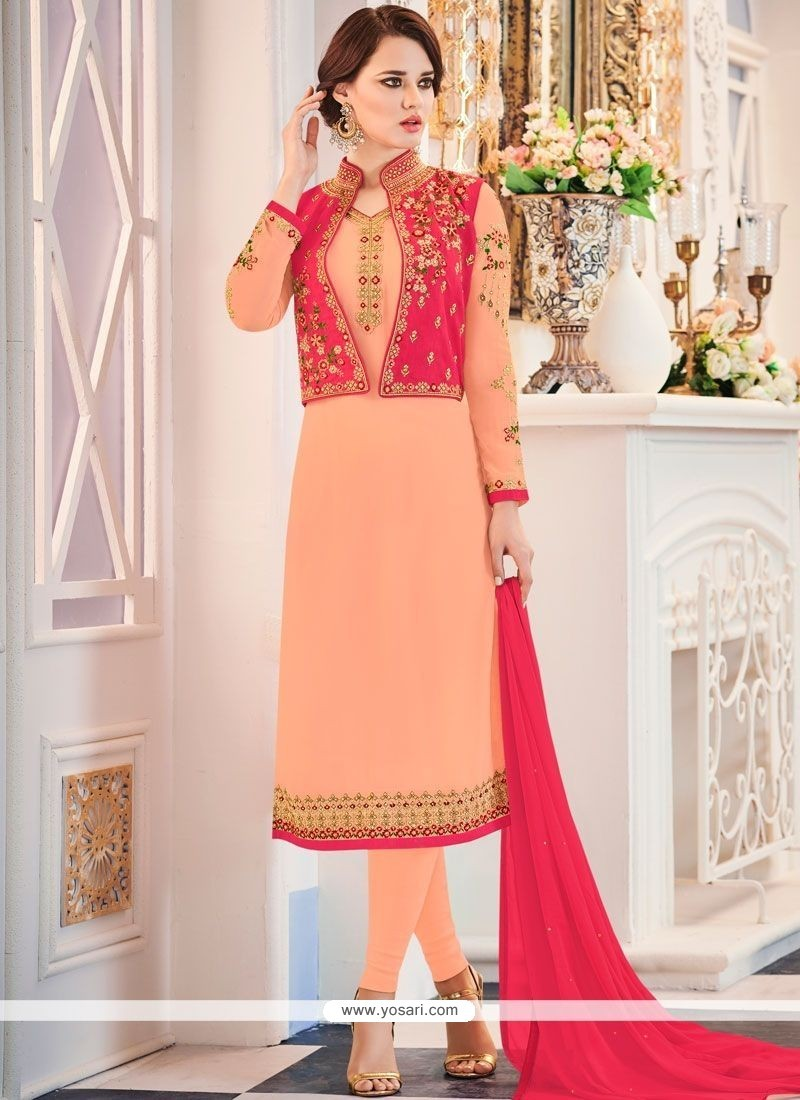 9caf48f21075 Buy Embroidered Work Banglori Silk Jacket Style Suit | Designer ...