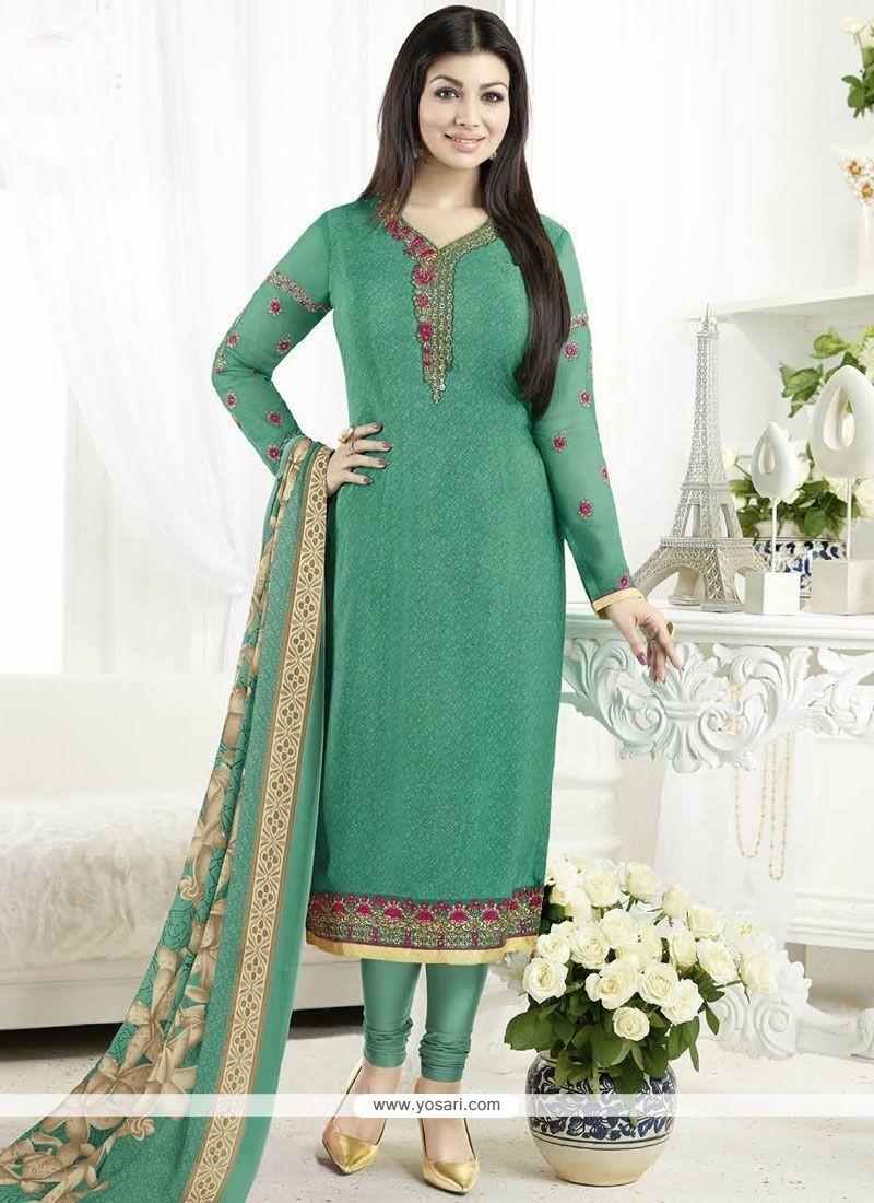 Buy Ayesha Takia Faux Crepe Churidar Designer Suit | Churidar Salwar ...