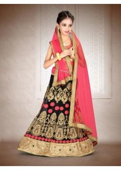 c460b7624b Buy Red Banglori Silk With Embroidery Work Lehenga Choli For Girls ...