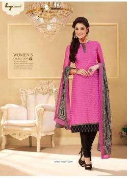 Pink Chanderi Salwar Kameez