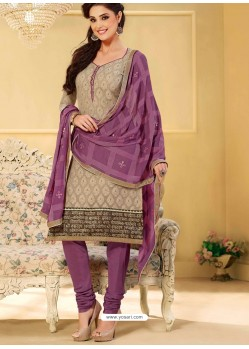 Grey Chanderi Salwar Kameez
