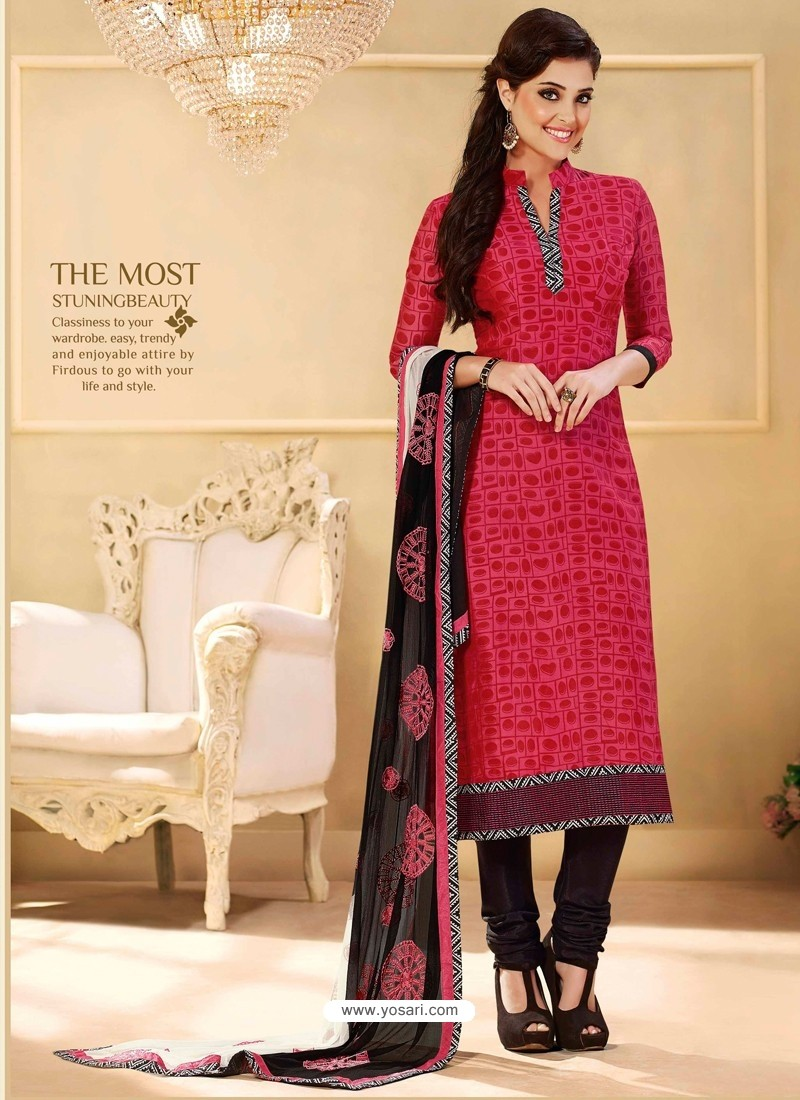 Red Chanderi Salwar Kameez