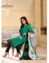 Green Chanderi Salwar Kameez