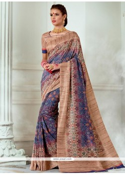 Print Work Multi Colour Traditional Designer Saree