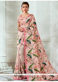 Tussar Silk Multi Colour Print Work Designer Traditional Saree