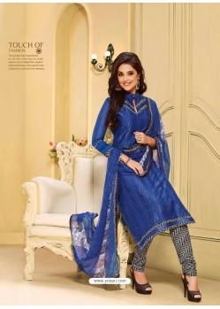 Blue Chanderi Salwar Kameez