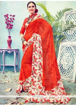 Satin Multi Colour Printed Saree