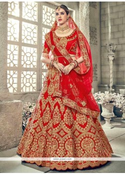 Art Silk Lace Work Lehenga Choli