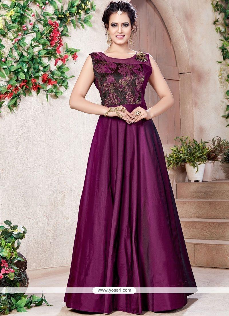 Buy Fancy Work Work Designer Gown | Gowns
