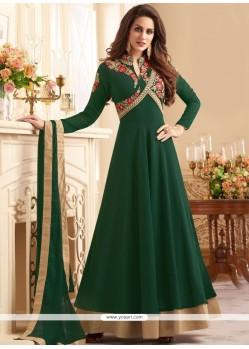 Resham Work Tafeta Silk Anarkali Salwar Suit