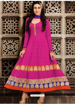 Magenta Georgette Anarkali Suit