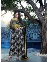 Black And Yellow Georgette Anarkali Suit