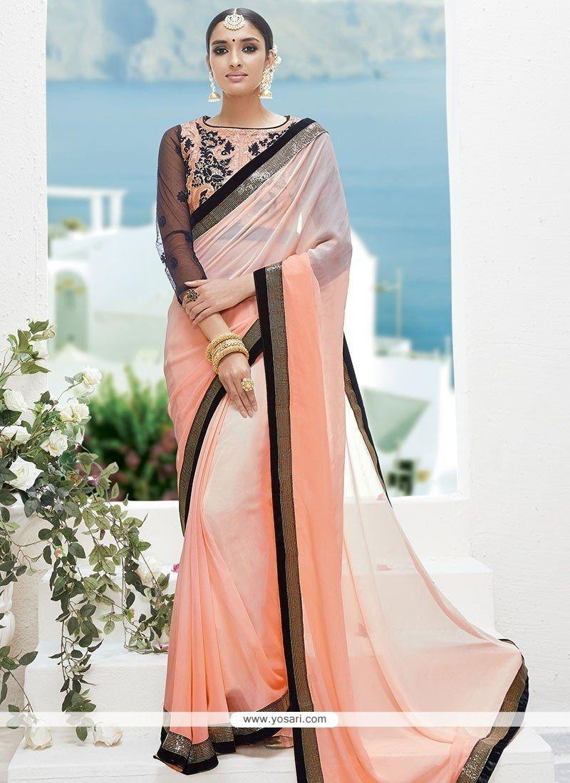 0824055211 Buy Peach Shaded Saree | Wedding Sarees
