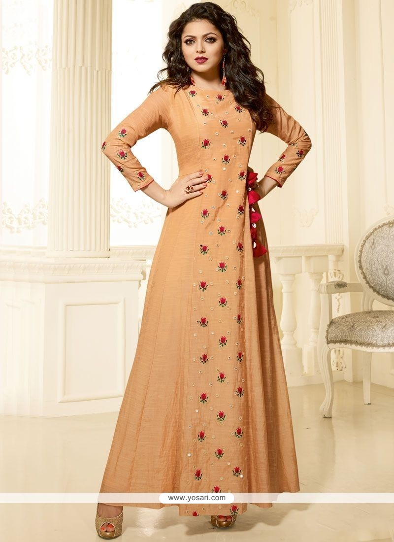 026739baed0 Buy Embroidered Work Art Silk Party Wear Kurti