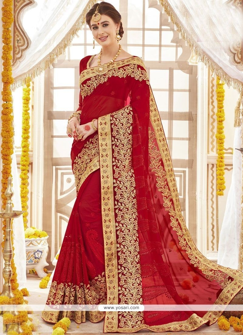 ccfb7c5a3 Buy Faux Georgette Saree