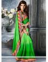 Marvelous Green Faux Chiffon Party Wear Saree