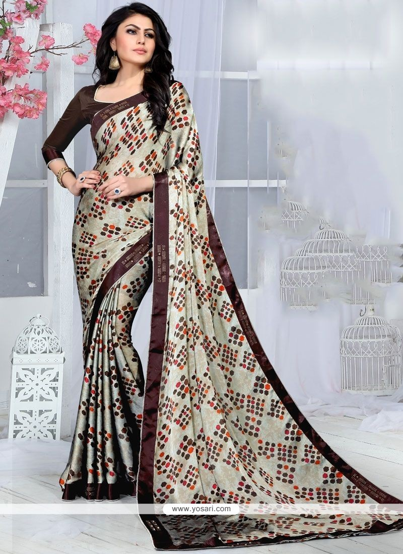 7ca3426d5c Buy Fancy Fabric Multi Colour Print Work Printed Saree | Designer Sarees
